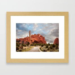A Ride in Kodachrome Basin State Park close to sunset Framed Art Print