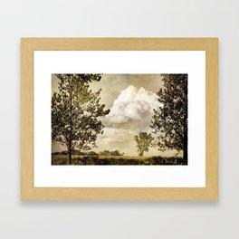 Prairie Clouds Framed Art Print