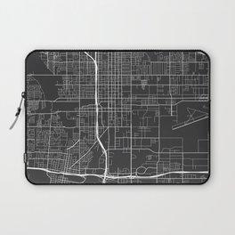 San Bernardino Map, USA - Gray Laptop Sleeve
