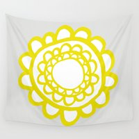 sunflower Wall Tapestries featuring Sunflower by Dream Of Forest