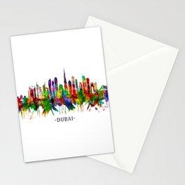 Dubai United Arab Emirates Skyline Stationery Cards