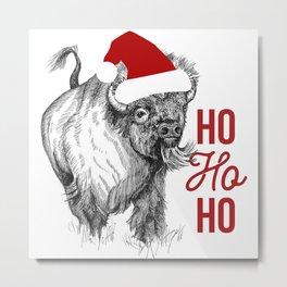 Christmas Buffalo Metal Print