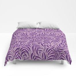 Tropical Leaves Pattern (Violet version) Comforters