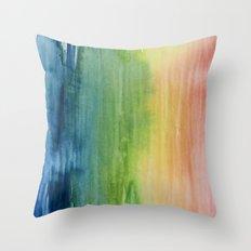 Fade Into Rainbows Throw Pillow
