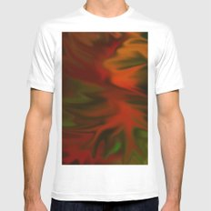 Flaming Red Mens Fitted Tee White MEDIUM
