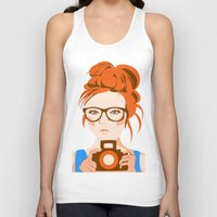 photographer Tank Tops featuring Photographer by KylaArt