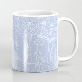 Wildflower Cosmos Drawing in a contemporary style Coffee Mug
