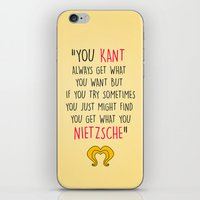 hedwig iPhone & iPod Skins featuring Hedwig, Kant & Nietzsche by byebyesally