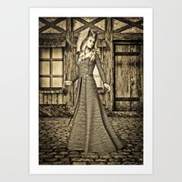 medieval Art Prints featuring Medieval Lady by Design Windmill