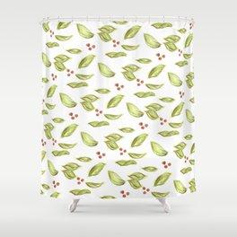 picnic pattern honeysuckle Shower Curtain