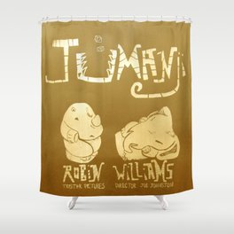 Jumanji Movie Poster Shower Curtain