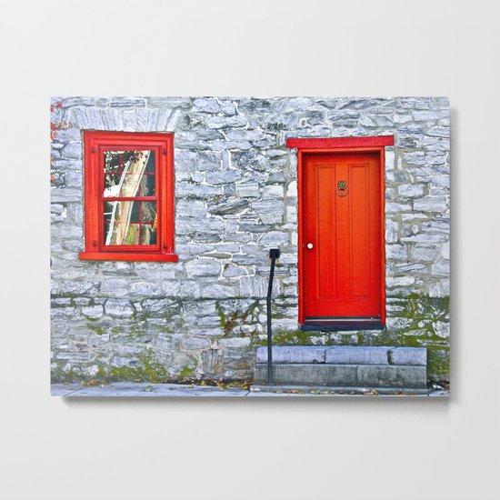 Winchester Red Door Metal Print