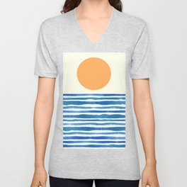 When The Sun Comes Up Unisex V-Neck
