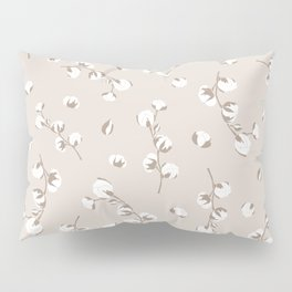 Cotton floral seamless pattern in pastel colors. Pillow Sham