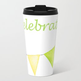 Let's Celebrate - Rainbow Connection Banner Travel Mug