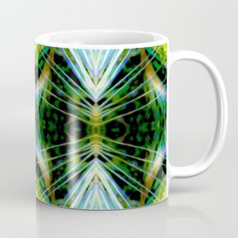 Blue Green Bright Rays,Fractal Art Coffee Mug