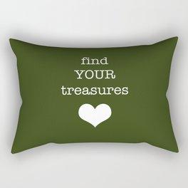 find your treasures. Rectangular Pillow