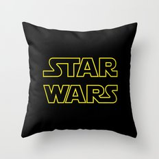 Star Logo Wars Throw Pillow