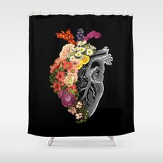 Flower Heart Spring Shower Curtain