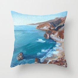 Big Sur No.1 Throw Pillow
