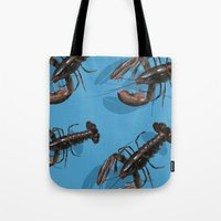 lobster Tote Bags featuring Lobster by Trinity Mitchell