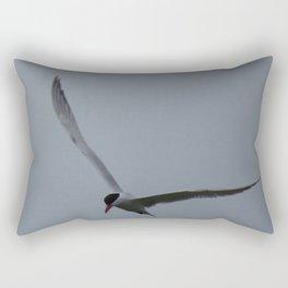 Tern flying at the Jensen Nature Preserve Rectangular Pillow