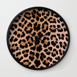 Cheetah Pattern Wall Clock