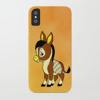 donkey iPhone & iPod Cases featuring Childhood Donkey by Texnotropio