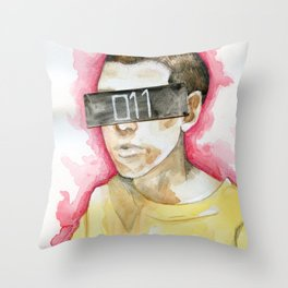 Watercolor drawing Throw Pillow