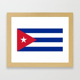 National flag of Cuba - Authentic HQ version Framed Art Print