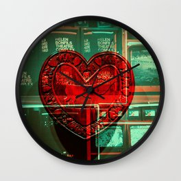 Electric Heart Wall Clock