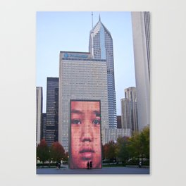 LED wall in Chicago Canvas Print