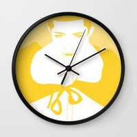 vampire Wall Clocks featuring Vampire by Jessica Slater Design & Illustration