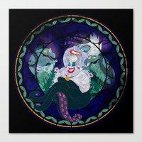 ursula Canvas Prints featuring Ursula by Mazuki Arts