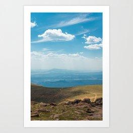 Path to the top of Pikes Peak Art Print