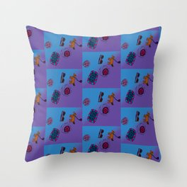 Kendall's Dog and Things Throw Pillow