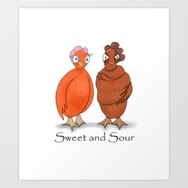 Sweet and Sour Chicken Art Print