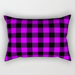 Purple Black Pattern  Rectangular Pillow