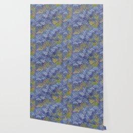 Vintage Japanese floral pattern Wallpaper