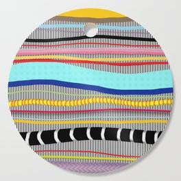 Bold stripes,breezy and beautiful,Striped Contemporary world's cute fashion Cutting Board