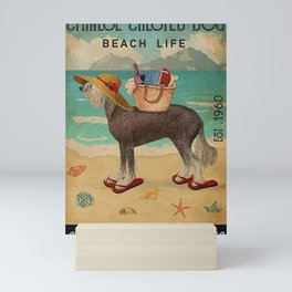 Beach Life Sandy Toes Chinese Crested Dog Mini Art Print