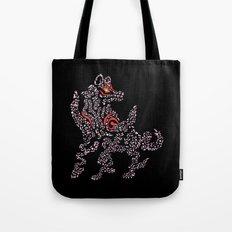 Okami Amaterasu - Cherry Blossom Form [BLACK] Tote Bag