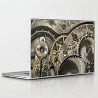 clockwork Laptop & iPad Skins featuring Clockwork Homage by DebS Digs Photo Art