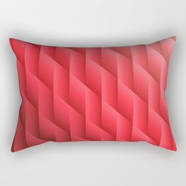 Gradient Red Diamonds Geometric Shapes Rectangular Pillow
