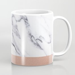 Marble Rose Gold Luxury iPhone Case and Throw Pillow Design Coffee Mug