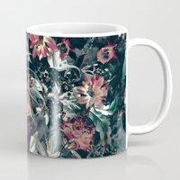 garden Mugs featuring Space Garden by RIZA PEKER