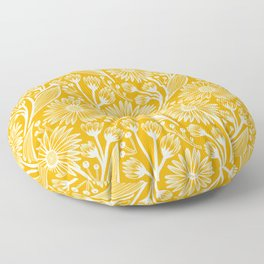 Saffron Coneflowers Floor Pillow