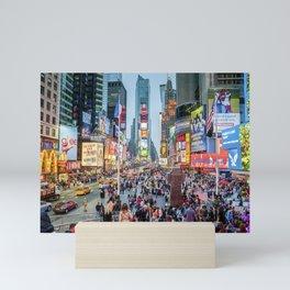 Times Square Tourists Mini Art Print