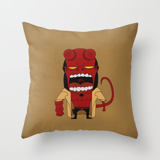 Screaming Helldude Throw Pillow