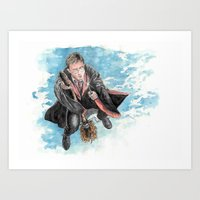 harry potter Art Prints featuring Harry Potter  by Dave Seedhouse.com